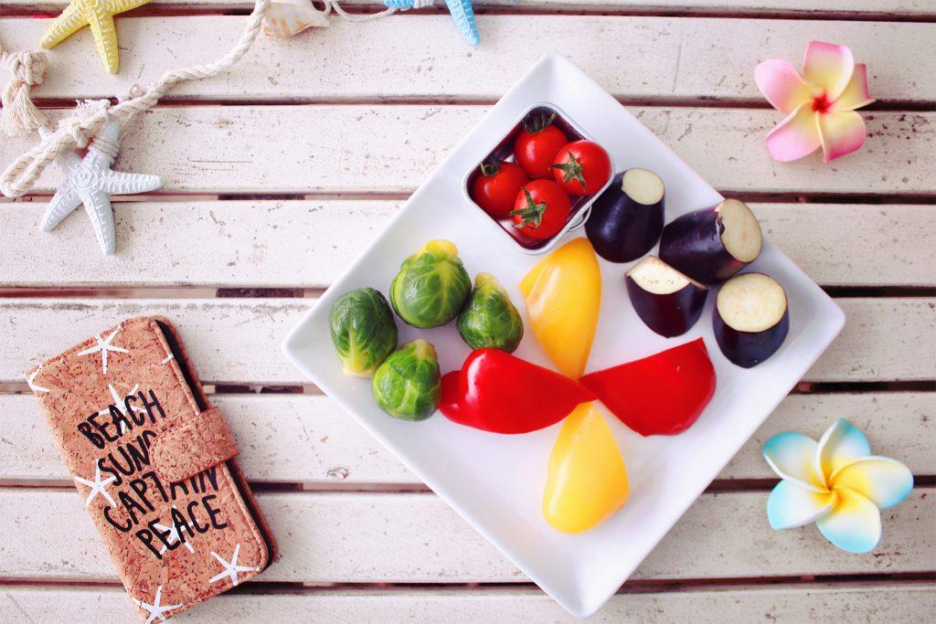 緑黄色野菜,サラダ,ビーガン,
